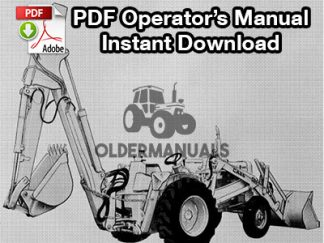 Case Model 33 Backhoe Operator's Manual