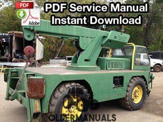 Drott Go-Devil 160 RF2 Crane Service Manual