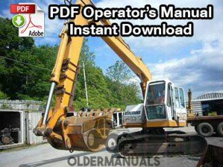 Drott 35D Crawler Excavator Operator's Manual