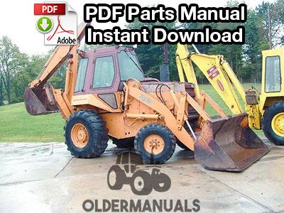 Case 780B Tractor Loader Backhoe Parts Manual