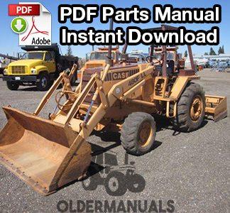 Case 480F, 480FLL Tractor Loader Backhoe Parts Manual