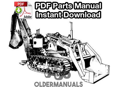 Case 310C Crawler Tractor Parts Manual