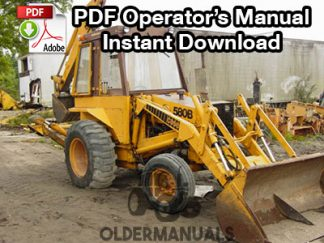 Case 580B Tractor Loader Backhoe (Hydrostatic) Operator's Manual