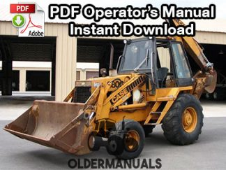 Case 680G Tractor Loader Backhoe Operator's Manual