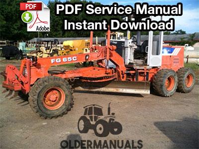 Fiat Allis FG65C Motor Grader Service Manual