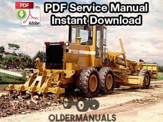 Fiat Allis FG70, FG75, FG85, FG105 Series B Motor Grader Service Manual