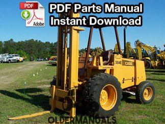 Case 584E, 585E, 586E Forklift Parts Manual