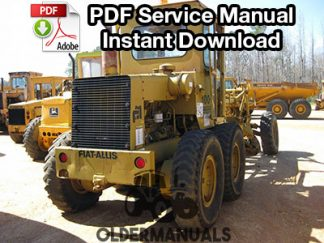 Fiat Allis 100C, 150C, 200C Motor Grader Service Manual